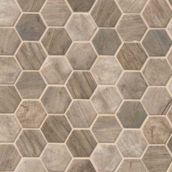 Driftwood Hexagon 6MM
