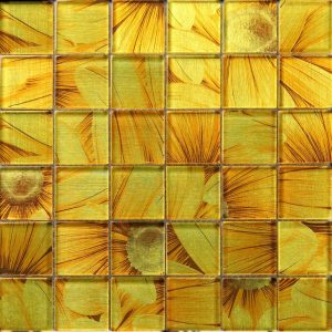 SL-04 Season Series - Sun Flower - Yellow wallpaper glass